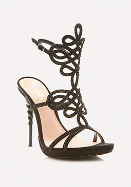 bebe Delja Jeweled Sandals