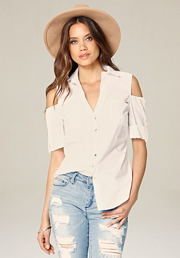 bebe Ritchie Cold Shoulder Shirt