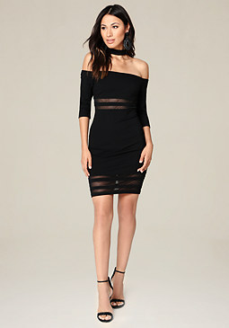 bebe Ariella Choker Dress