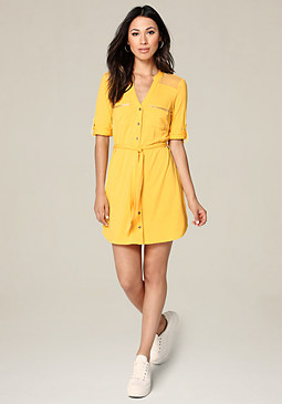 bebe Sandy Jersey Shirtdress