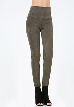 bebe Faux Suede High Leggings