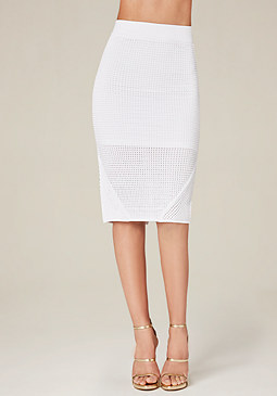bebe Ottoman Pencil Skirt