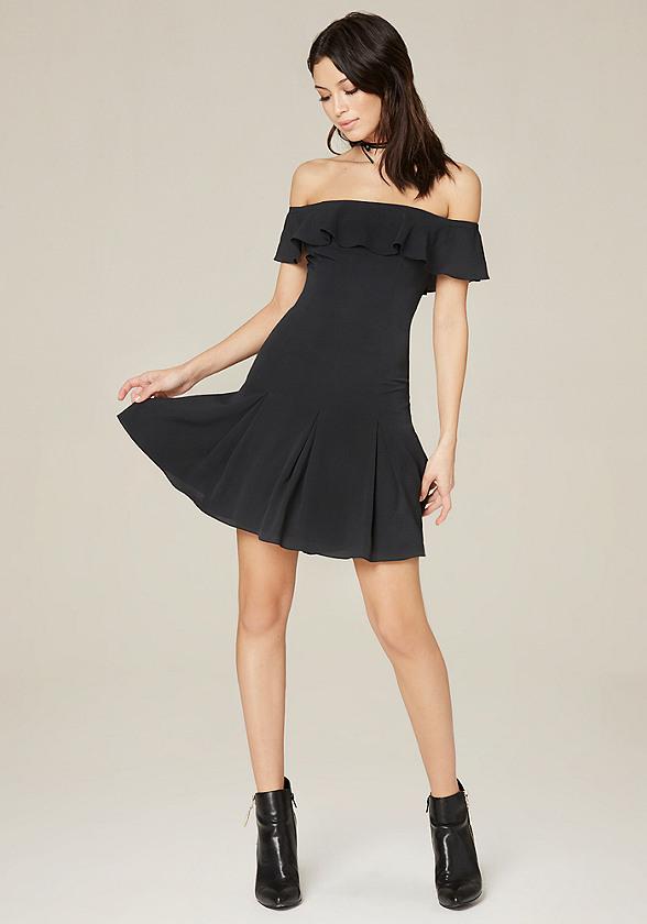 Off Shoulder Flared Dress