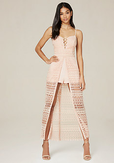 Macrame Shorts Maxi Dress