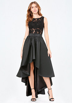 Penelope Lace Hi-Lo Dress