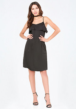 bebe Rosalia Ruffle Slip Dress