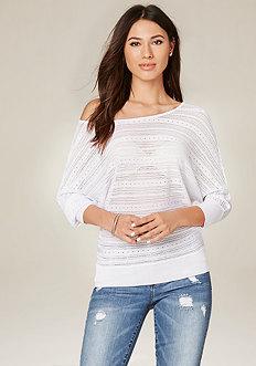 Elle Sheer Dolman Sweater