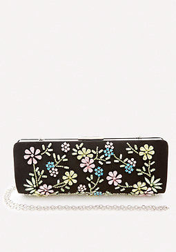 Jewel Flower Clutch at bebe