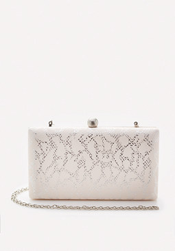 bebe Metallic Foiled Clutch