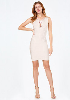 Lace Up Bandage Dress