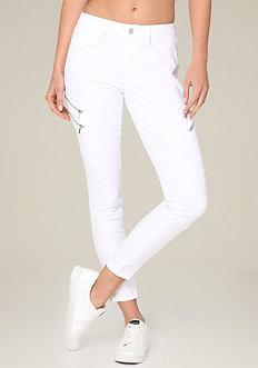 4-Zip Moto Skinny Pants