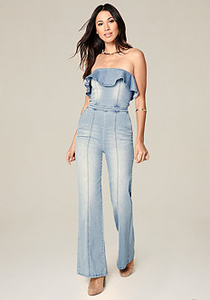 Ruffled Strapless Jumpsuit
