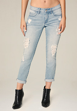 bebe Chainmail Repair Jeans