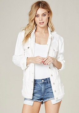 bebe White Boyfriend Jacket
