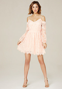 bebe Mia Cold Shoulder Dress