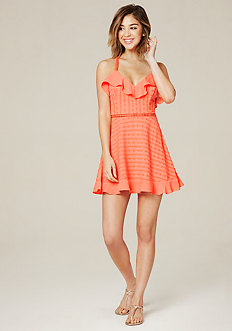 Ruffled Cross Back Dress