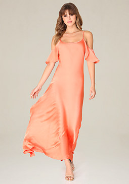 bebe Savanna Satin Slip Gown