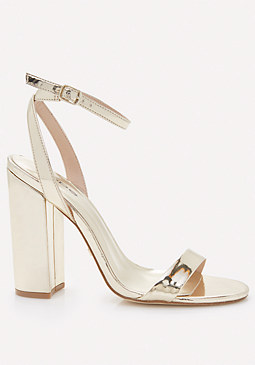 bebe Theaa Metallic Sandals