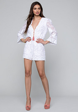 bebe Embellished Party Romper