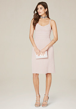 bebe Pleated Cami Dress