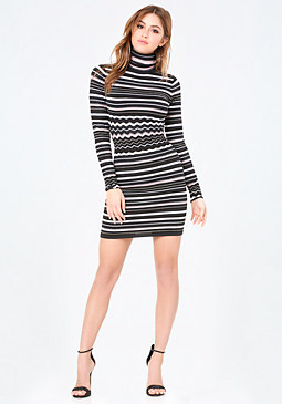 bebe Striped Sweater Dress