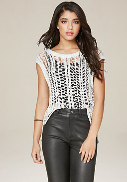 bebe Kumbia Knit Top
