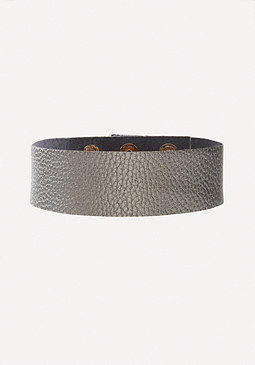 bebe Glam Faux Leather Choker