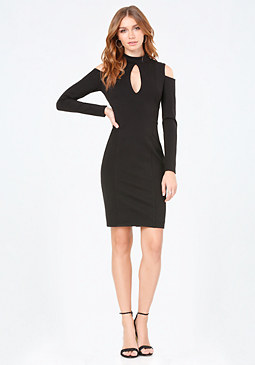 bebe Keyhole & Mock Neck Dress
