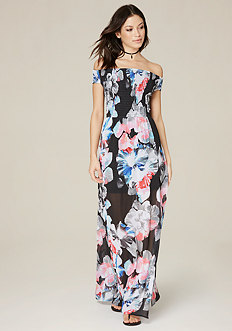 Brier Print Maxi Dress