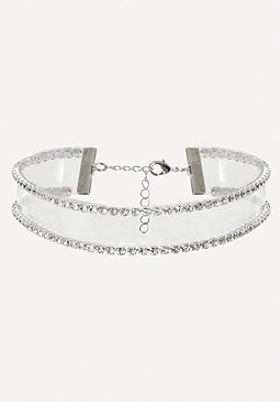 bebe Crystal Clear Choker