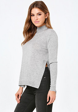 bebe Sally Side Slit Sweater