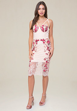 bebe Maddie Embroidered Dress
