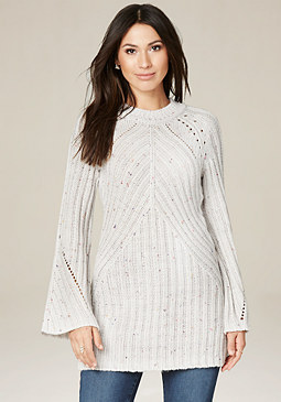 bebe Bell Sleeve Sweater Tunic