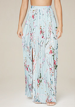 bebe Pleated Maxi Skirt