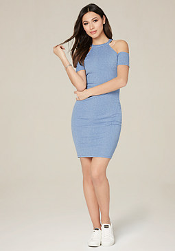 bebe Saraya Cold Shoulder Dress