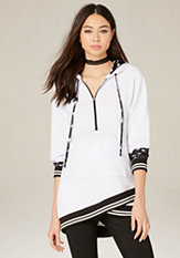 bebe Pullover Hoodie Tunic