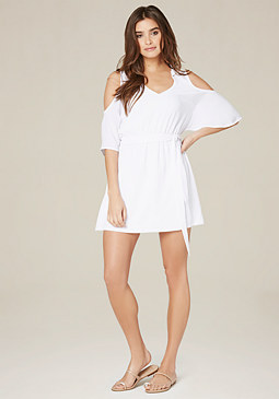 bebe Cindi Cold Shoulder Dress