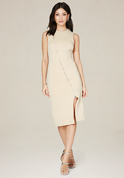 bebe Rebecca Textured Zip Dress