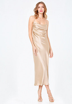 bebe Bianca Column Slip Dress