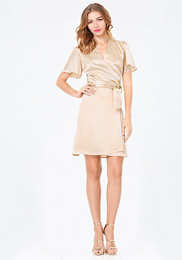 bebe Annabelle Wrap Dress