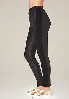 Petite Coated Tux Leggings