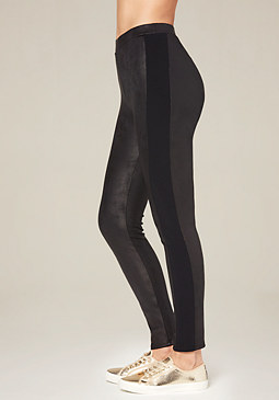 bebe Petite Coated Tux Leggings