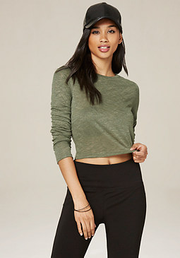 bebe Crewneck Crop Top