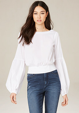 bebe Blouson Sleeve Top