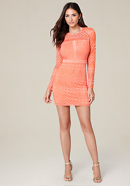 bebe Linda Lace Day Dress
