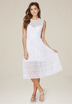 Meilee Lace Tiered Dress