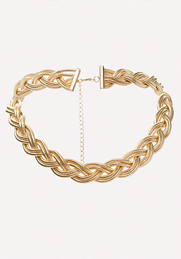 bebe Braided Chain Necklace