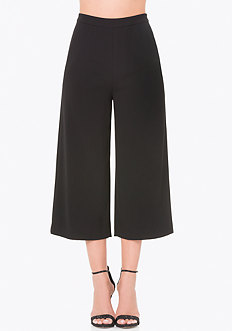 Cropped Wide Leg Trousers