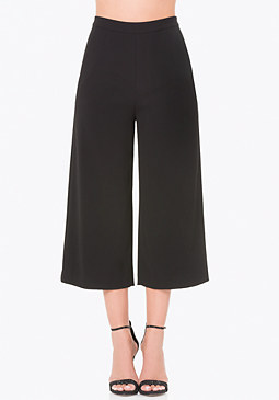 bebe Cropped Wide Leg Trousers