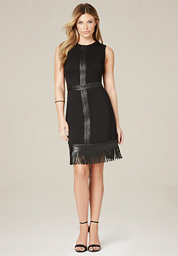 bebe Liz Fringe Dress